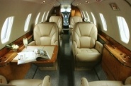Midsize Private Charter Jet Interior